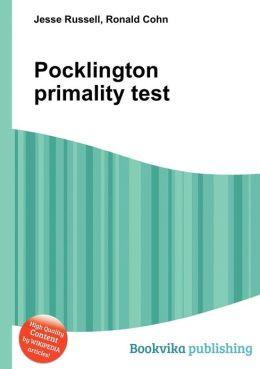 Pocklington Primality Test