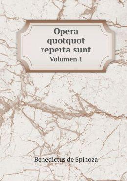Opera quotquot reperta sunt Volumen 1