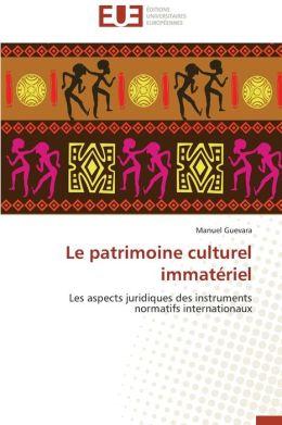 Le Patrimoine Culturel Immateriel