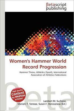 Women's Hammer World Record Progression