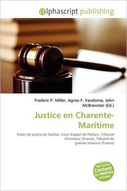 Justice En Charente-Maritime