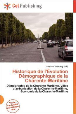 Historique De L' Volution D Mographique De La Charente-Maritime