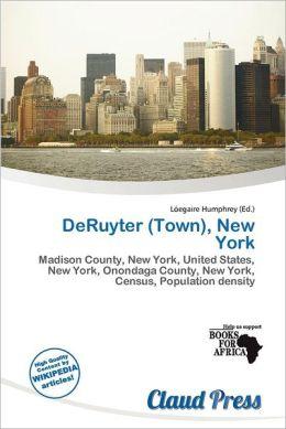 DeRuyter (Town), New York by L egaire Humphrey | 9786201497504deruyter town