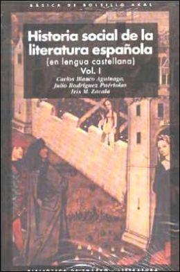 Historia Social de la Literatura Espanola