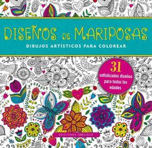 Diseños de mariposas. Dibujos artísticos para colorear