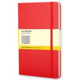 Moleskine Classic Red Large Squared Notebook