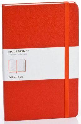 Moleskine Classic Red Large Address Book