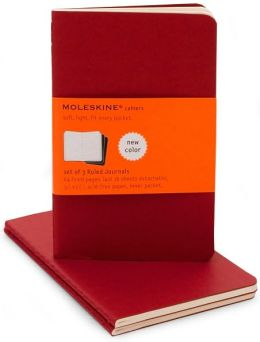 Moleskine Cahier Red Pocket Ruled Journal, Set of 3