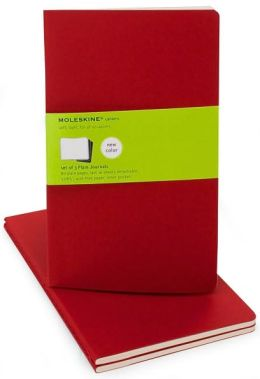 Moleskine Cahier Red Large Plain Journal, Set of 3