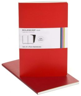 Moleskine Volant Large Plain Notebook, Scarlet/Bordeaux Red Set of 2