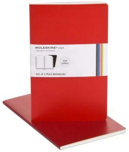 Moleskine Volant Large Plain Notebook, Scarlet/Bordeaux Red Set of 2