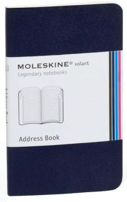 Moleskine Volant Extra Small Address Book, Prussian Blue