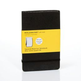 Moleskine Classic Soft Cover Pocket Squared Reporter Notebook