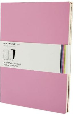 Moleskine Volant Extra Large Ruled Notebook, Pink/Magenta Set of 2