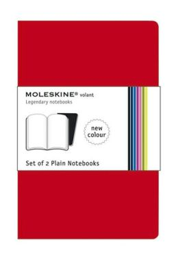 Moleskine Volant Extra Large Plain Notebook, Scarlet/Bordeaux Red Set of 2