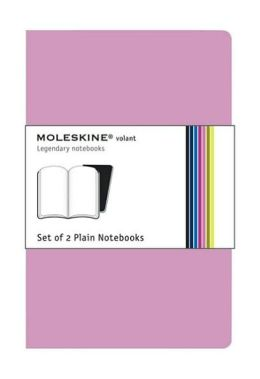 Moleskine Volant Extra Large Plain Notebook, Pink/Magenta Set of 2