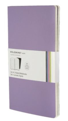 Moleskine Volant Large Ruled Notebook, Violet Set of 2