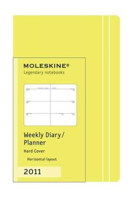 2011 Moleskine 12 months - Weekly Horizontal Planner - 2.5 x 4 Light Green Hard Cover - Extra Small