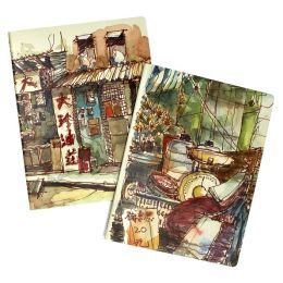 Moleskine Cover Art Squared Journal by Paul Wang, Set of 2