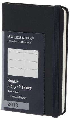 2013 Weekly Horizontal Planner - Extra Small - Prussian Blue Cover