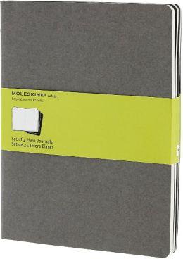 Moleskine Cahier Journal Grey Extra Large Plain 7.5x10