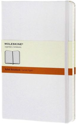 Moleskine Classic White Large Ruled Notebook
