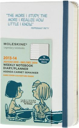 2014 18 Month Limited Edition Planner - Peanuts - Weekly Notebook - Pocket - White - Hard Cover