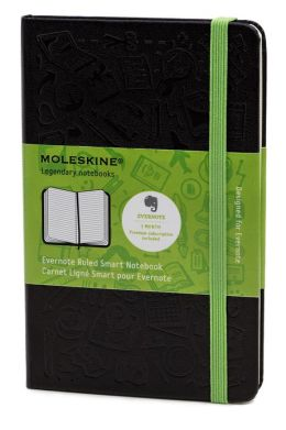Moleskine Classic Large Ruled Black Evernote Smart Notebook