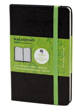 Moleskine Evernote Large Squared Smart Notebook