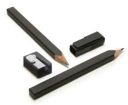 Moleskine Black Pencils & Sharpener Set