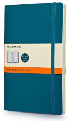 Moleskine Classic Soft Underwater Blue Large Ruled Notebook