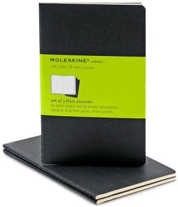 Moleskine Cahier Black Pocket Plain Journal, Set of 3