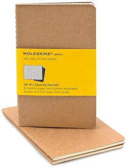 Moleskine Cahier Kraft Pocket Squared Journal, Set of 3