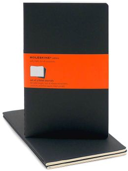 Moleskine Cahier Black Large Ruled Journal, Set of 3