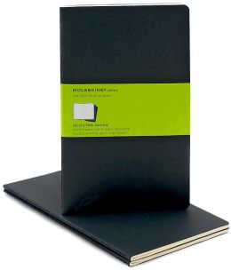 Moleskine Cahier Black Large Plain Journal, Set of 3