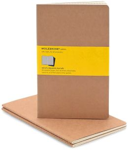 Moleskine Cahier Kraft Large Squared Journal, Set of 3