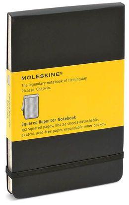Moleskine Classic Pocket Squared Reporter Notebook