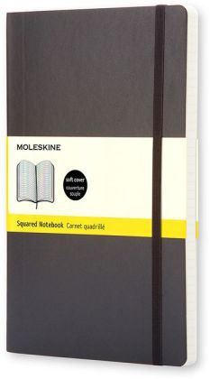 Moleskine Classic Soft Cover Pocket Squared Notebook