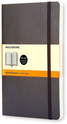 Moleskine Black Large Soft Cover with Ruled Pages Journal (5