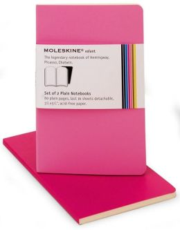 Moleskine Volant Pocket Plain Notebook, Pink/Magenta Set of 2