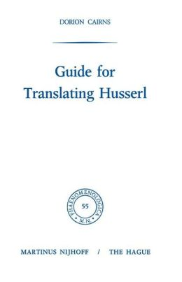 Guide for Translating Husserl