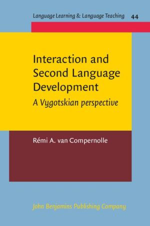 Interaction and Second Language Development: A Vygotskian perspective