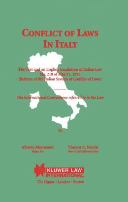 Conflicts Of Laws In Italy