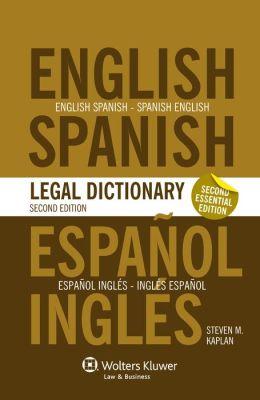 Essential English/Spanish and Spanish/English Dictionary