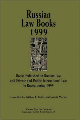 Russian Law Books 1999
