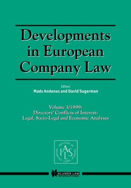 Developments In European Company Law Vol 3 1999