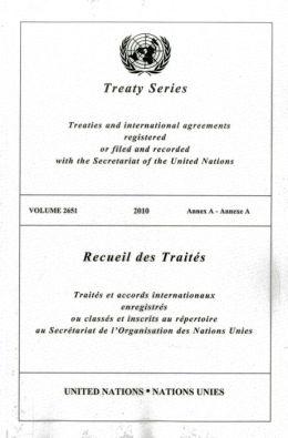 Treaty Series 2651: Annex A