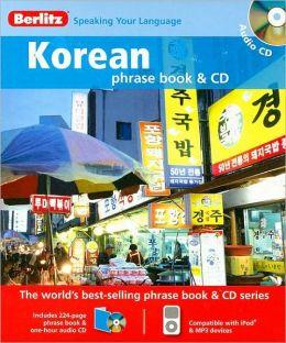 Berlitz Korean Phrase Book [With Phrasebook]
