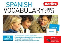 Berlitz Spanish Vocabulary Study Cards