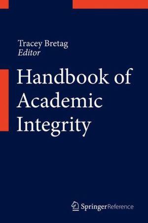 Handbook of Academic Integrity
